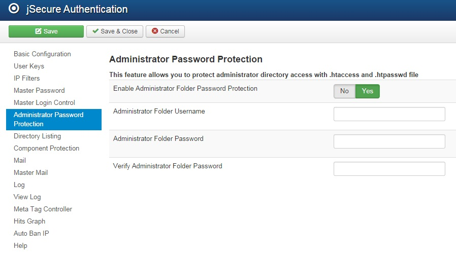 joomla authentication